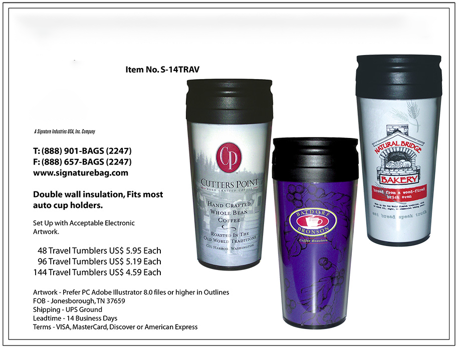 custom coffee tumblers